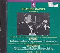 Plays Schubert/Faure Qrt Strin