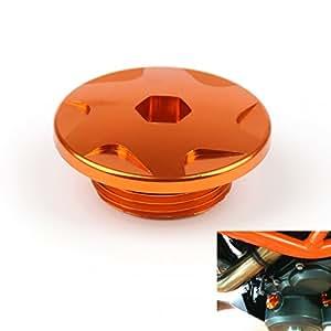 Areyourshop(アーユアショップ)バイク・オートバイ用 エンジン ケース カバー KTM DUKEデューク 125/200/390 オレンジ