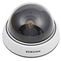 ダミーIR防犯カメラ ドーム型 LED点滅 無放射線 安全 防犯 模型