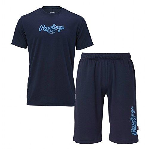 Rawlings(ローリングス) Tシャツ/ハーフパンツセット ASS7F03 ネイビー M