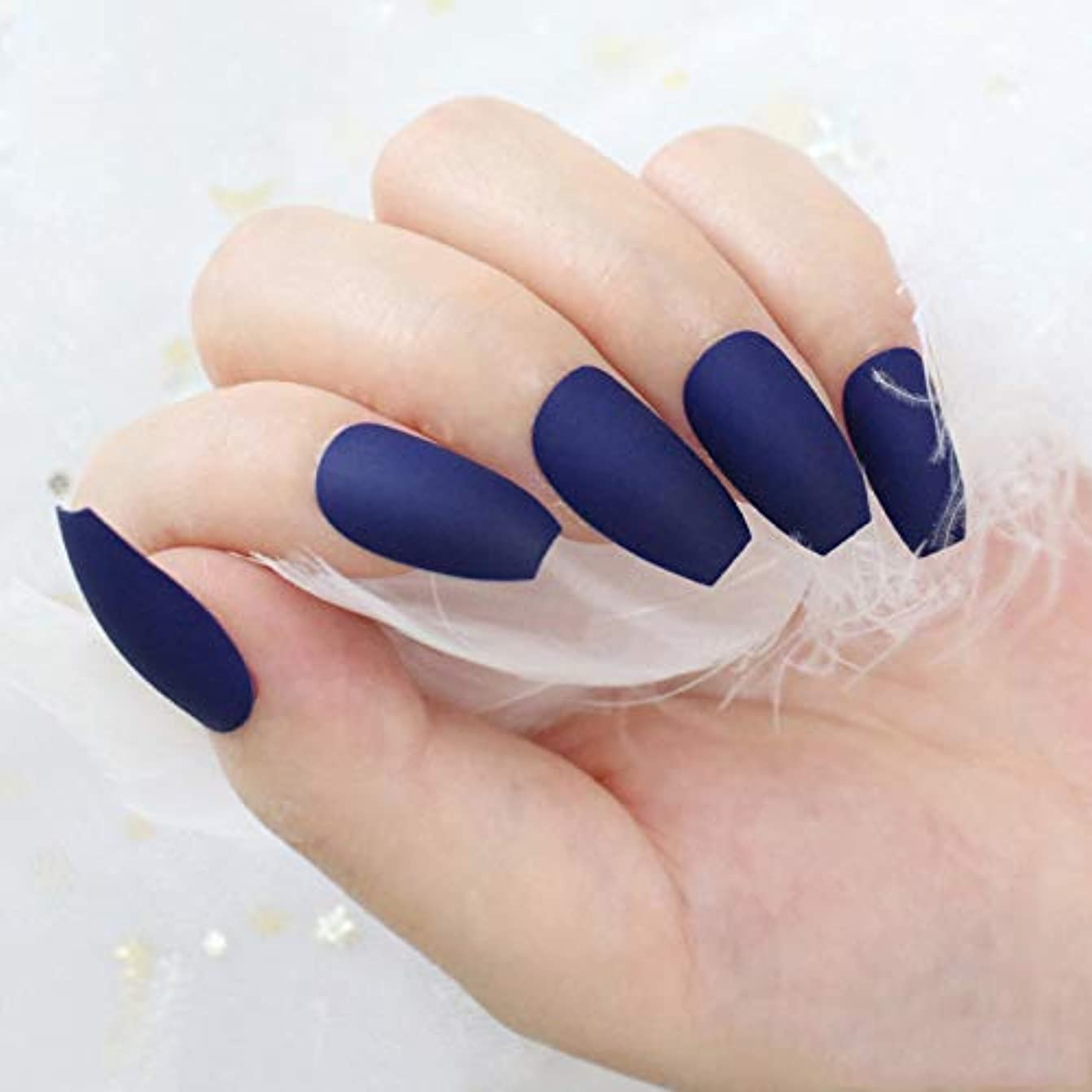 XUTXZKA 24個/セットマット偽ネイルフル女性偽爪ネイルアートデコレーションツール