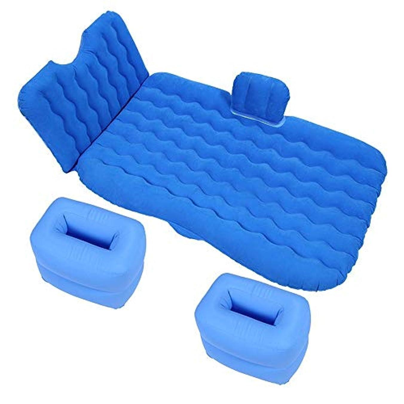 着飾るとても多くの本質的ではないインフレータブルマットレス、車のインフレータブルベッドポータブルで快適な旅行、一般的なSUV車の後部座席のソファ枕屋外多目的キャンプマットクッション用エアーポンプ,Blue