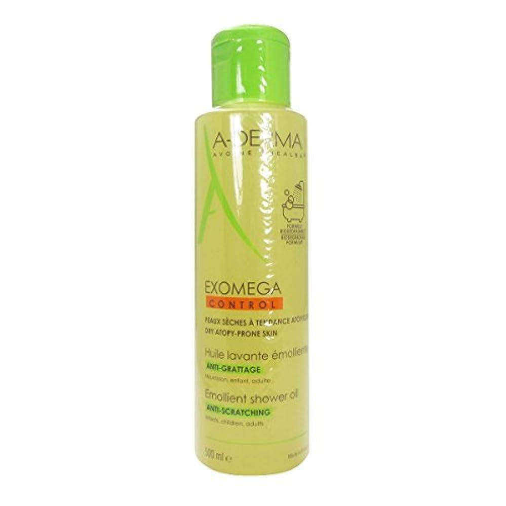 一般的な木製単なるA-derma Exomega Control Shower And Bath Oil 500ml [並行輸入品]
