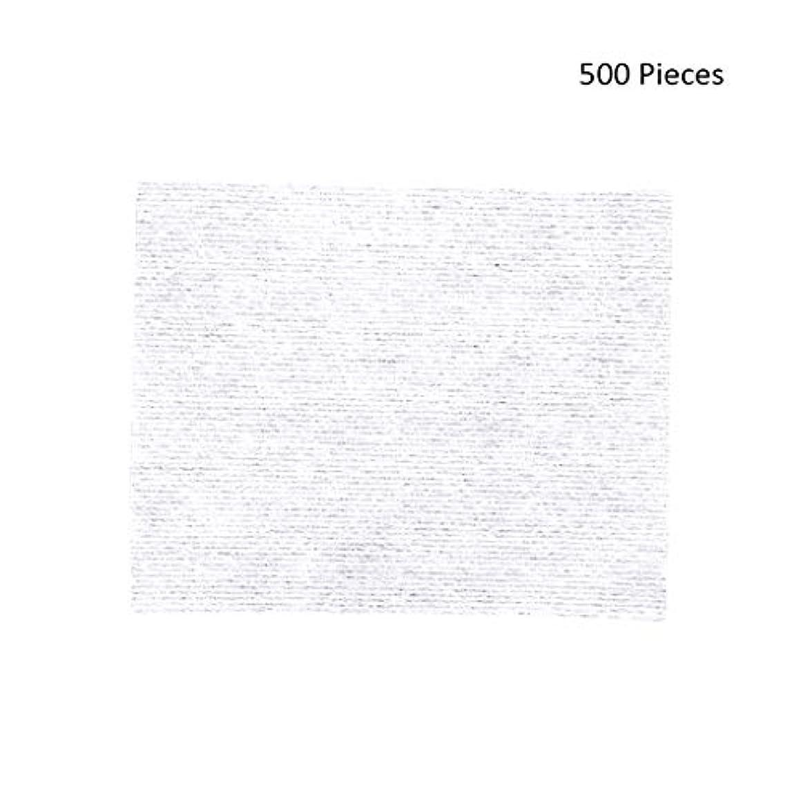 広告突き刺す十億500ピースフェイスメイクアップリムーバーワイプコットンパッドメイクアップリムーバーソフト化粧品フェイスマスククレンジングケアフェイシャルコットンパッド (Color : White, サイズ : 6*5cm)