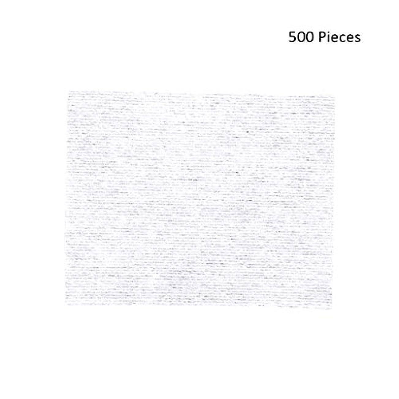 タックズーム症候群500ピースフェイスメイクアップリムーバーワイプコットンパッドメイクアップリムーバーソフト化粧品フェイスマスククレンジングケアフェイシャルコットンパッド (Color : White, サイズ : 6*5cm)