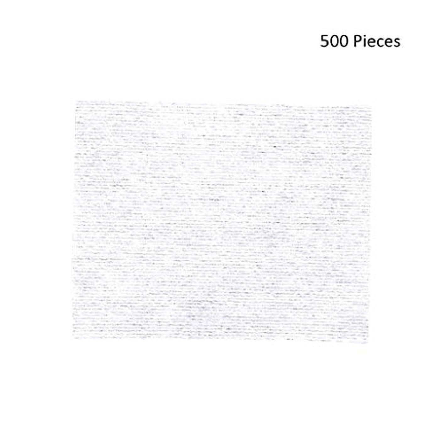 サミット召喚するドライブ化粧パッド 500ピース化粧拭きコットンパッドメイク落としパッドソフトパッド化粧品フェイスマスククレンジングケアフェイシャルナプキンコットン メイク落とし化粧パッド (Color : White, サイズ : 6*5cm)