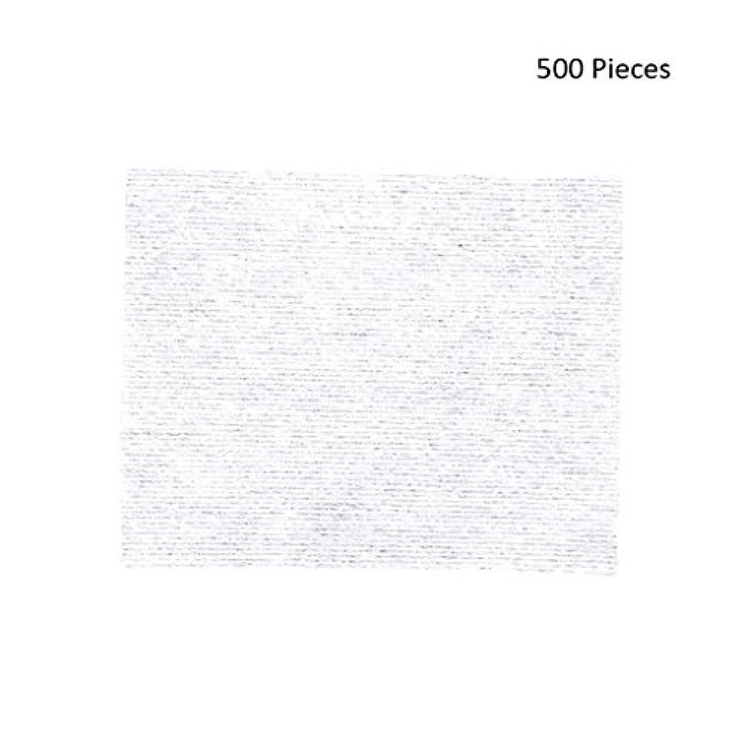 威するレッスンワイド500ピースフェイスメイクアップリムーバーワイプコットンパッドメイクアップリムーバーソフト化粧品フェイスマスククレンジングケアフェイシャルコットンパッド (Color : White, サイズ : 6*5cm)