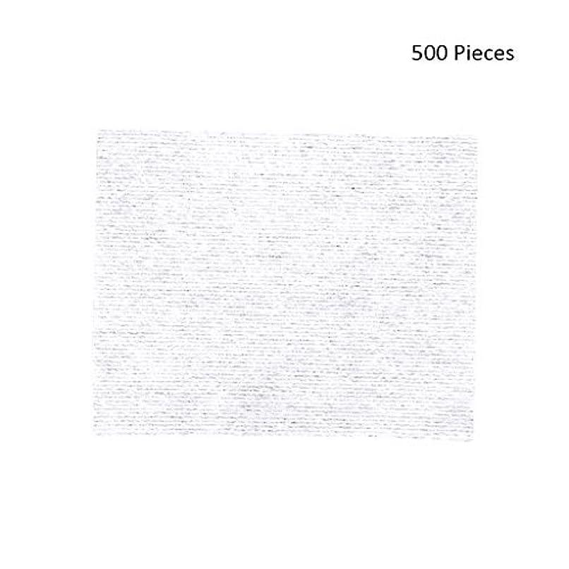 コアジャズ騒々しい500ピースフェイスメイクアップリムーバーワイプコットンパッドメイクアップリムーバーソフト化粧品フェイスマスククレンジングケアフェイシャルコットンパッド (Color : White, サイズ : 6*5cm)