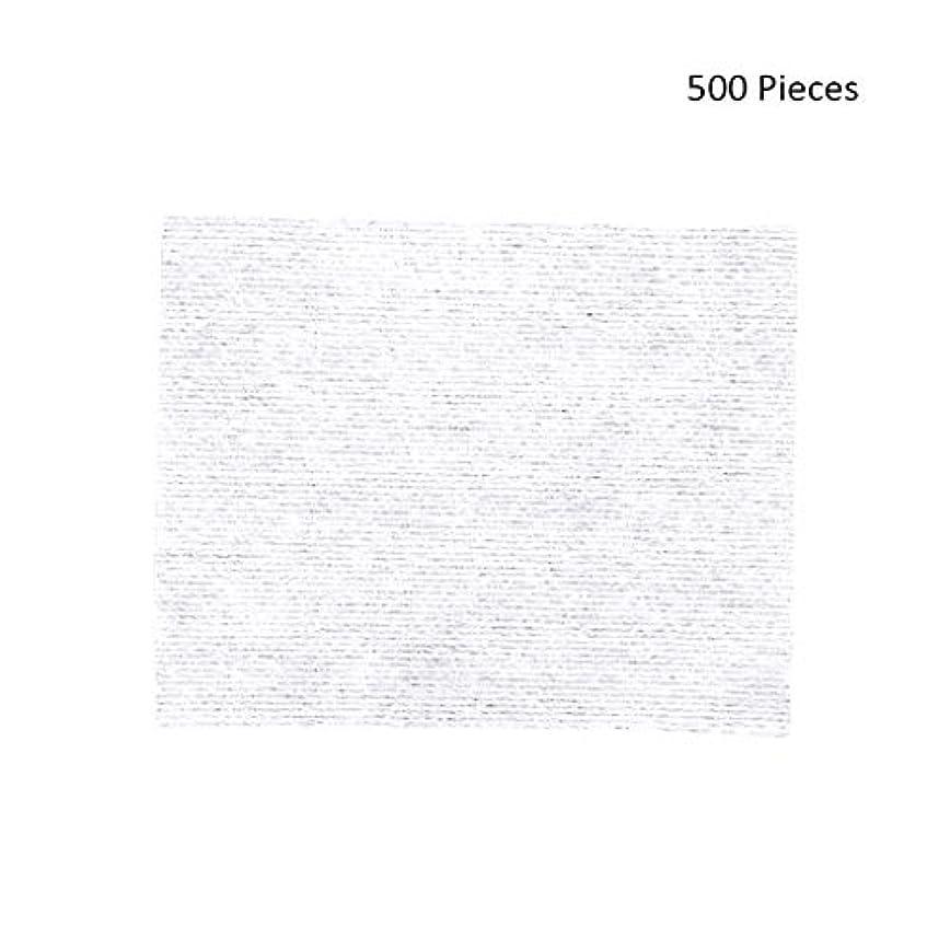 ダブル広いそんなに500ピースフェイスメイクアップリムーバーワイプコットンパッドメイクアップリムーバーソフト化粧品フェイスマスククレンジングケアフェイシャルコットンパッド (Color : White, サイズ : 6*5cm)