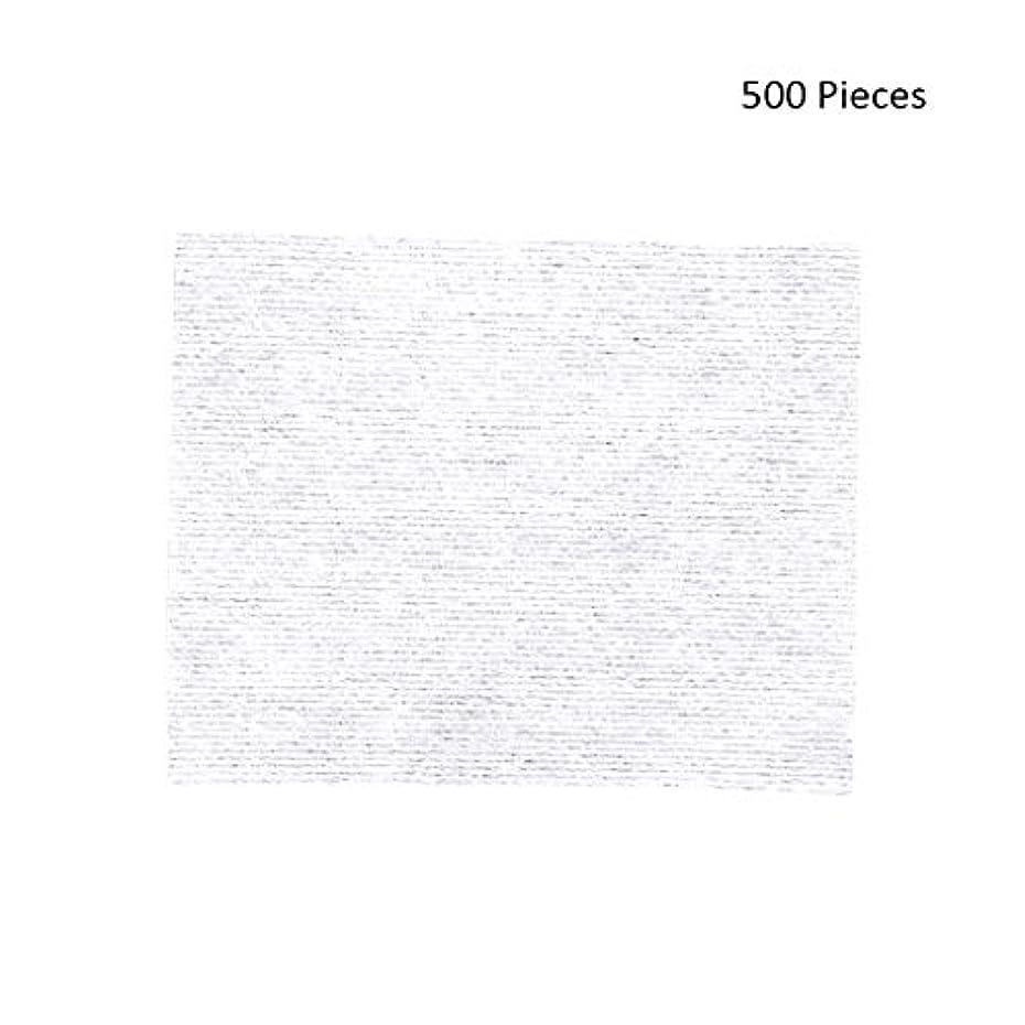 許さないケント主権者500ピースフェイスメイクアップリムーバーワイプコットンパッドメイクアップリムーバーソフト化粧品フェイスマスククレンジングケアフェイシャルコットンパッド (Color : White, サイズ : 6*5cm)
