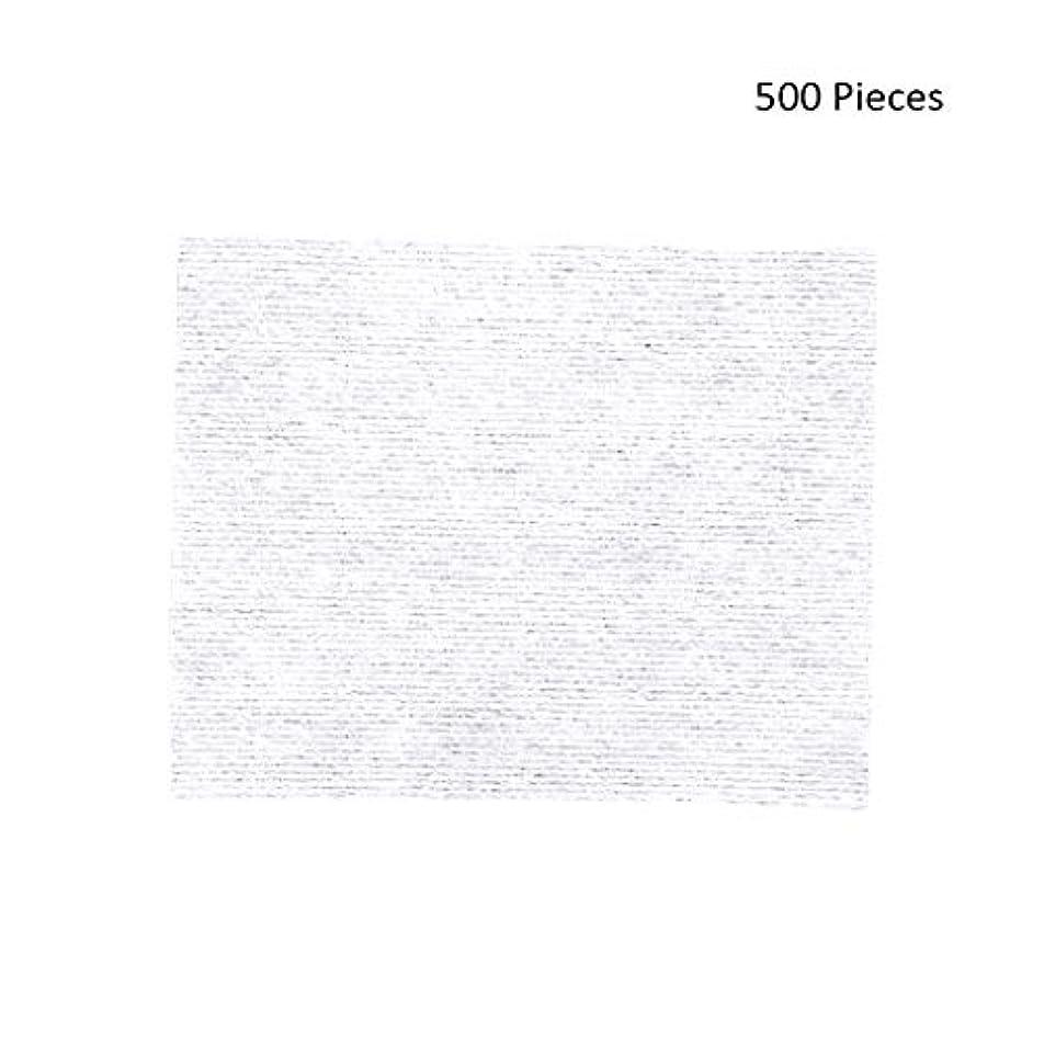 500ピースフェイスメイクアップリムーバーワイプコットンパッドメイクアップリムーバーソフト化粧品フェイスマスククレンジングケアフェイシャルコットンパッド (Color : White, サイズ : 6*5cm)