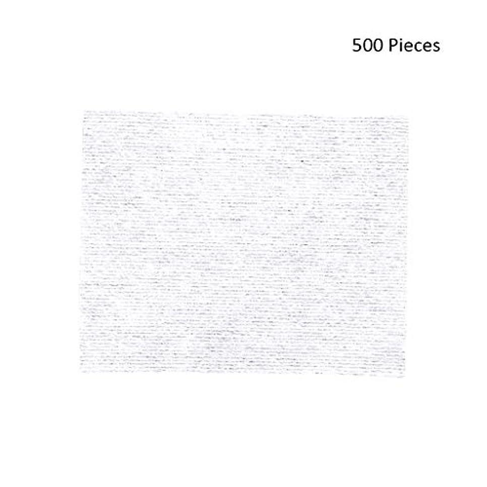 威信メロディーキノコ化粧パッド 500ピース化粧拭きコットンパッドメイク落としパッドソフトパッド化粧品フェイスマスククレンジングケアフェイシャルナプキンコットン メイク落とし化粧パッド (Color : White, サイズ : 6*5cm)