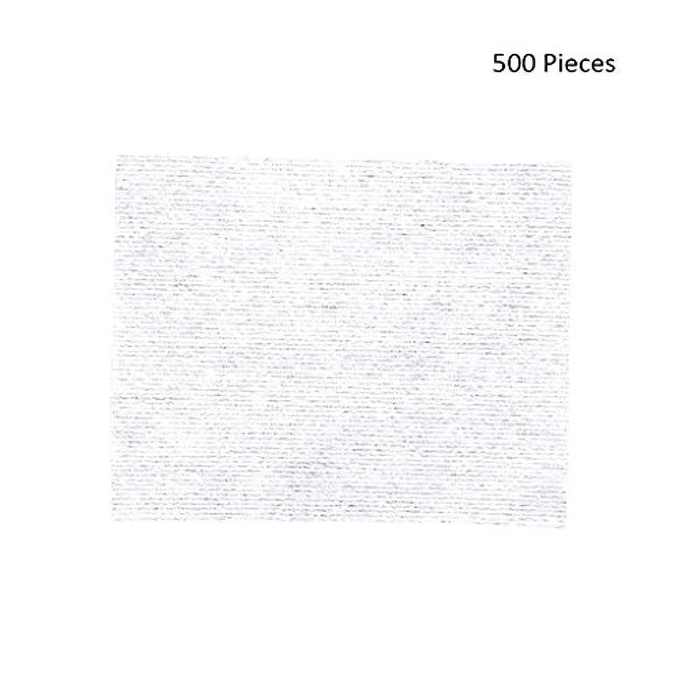 鋭く満たす自体クレンジングシート 500ピースフェイスメイクアップリムーバーメイクワイプコットンパッドメイクアップリムーバーパッドソフトパッド化粧品フェイスマスククレンジングケア 落ち水クレンジング シート モイスト (Color : White, サイズ : 6*5cm)