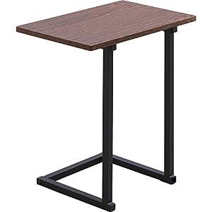 アイリスオーヤマ(IRIS) サイドテーブル コの字型デザイン 木目調 ブラウンオーク/ブラック 幅約45×奥行約29×高さ約52.2cm SDT-45