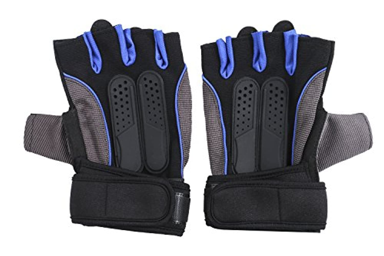 Walant トレーニンググローブ ウェイトリフティング サイクリング 登山用 アウトドア手袋 滑り止め 耐久性 手首保護 指切りグローブ