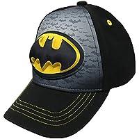 Batman-Logo Boys Flat Bill Snap Back Baseball Hat, Youth