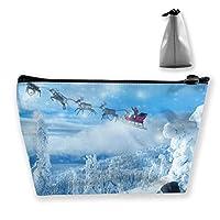 Worldlr クリスマス トナカイ サンタ 収納袋 収納ケース 衣類用 毛布用 ふとん収納 小物収納 消臭 ダニ カビ対策 出張 旅行 22*7*12cm