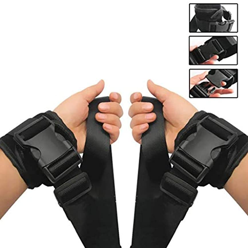 ハシー故国必要条件手や足の医療調節可能な患者の肢ホルダー - 高齢者認知症ユニバーサルクイックリリースストラップ(1ペア)ベルト(サイズ:足)、手 (Size : Hand)