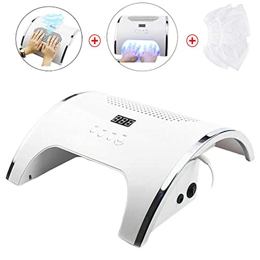 プレフィックス牽引評価80W UV LEDライト、無痛光爪、マニキュア用ゲルドライヤー、1ネイル集塵機2、マニキュアツール