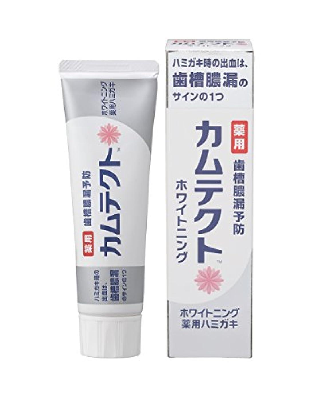 結核後者現実的カムテクト ホワイトニング薬用ハミガキ 105g 【医薬部外品】