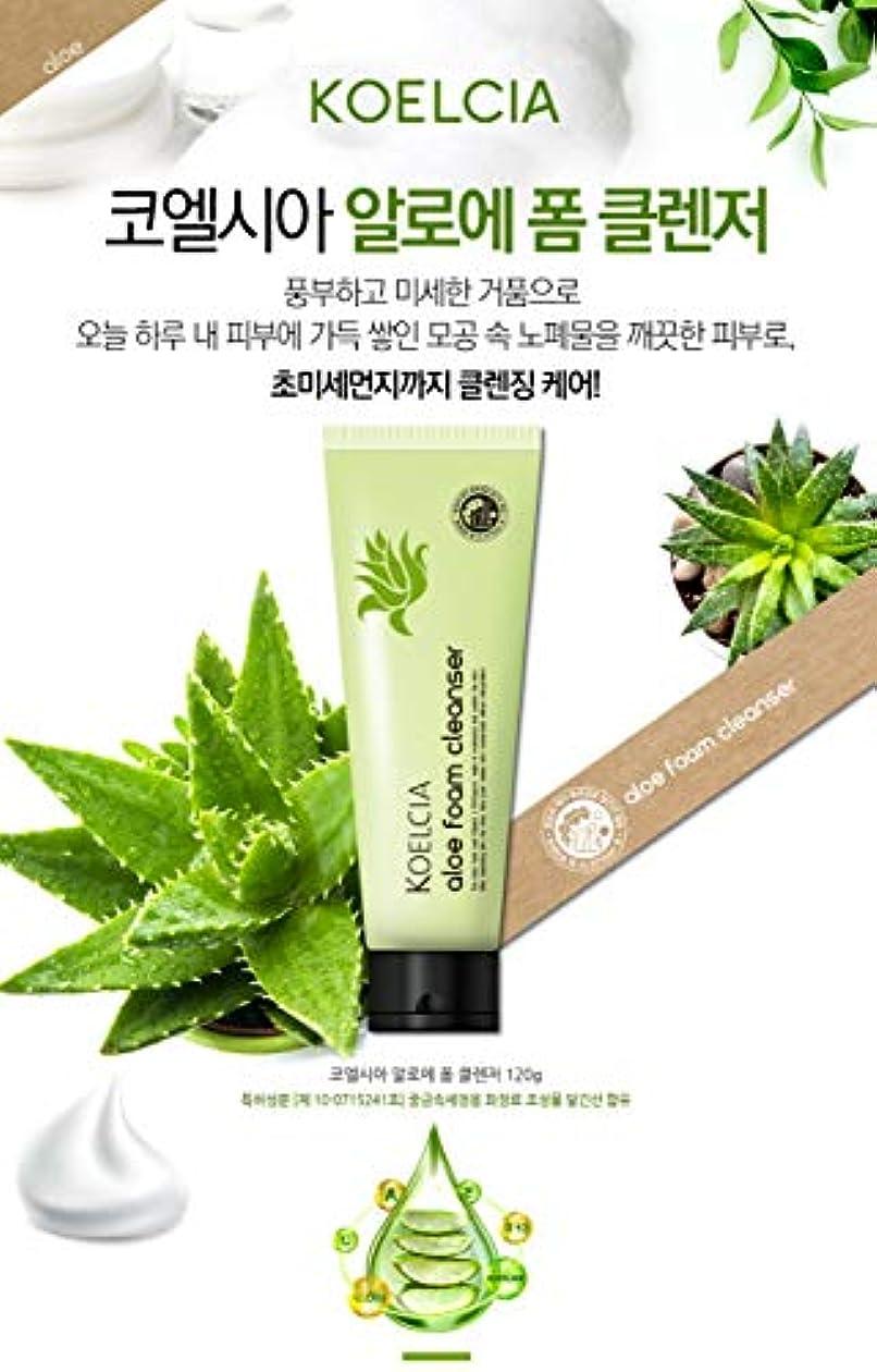 指紋突き刺すお茶KOELCIA Aloe Foam Cleanser 120gl/Korea Cosmetics