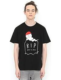 (グラニフ) graniph Tシャツ レストインピース (ブラック) メンズ レディース