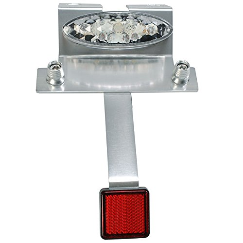 Big-One(ビッグワン) バイク LED テールランプ ナンバーステー 反射板 汎用 スリムテールライト クリア 27845