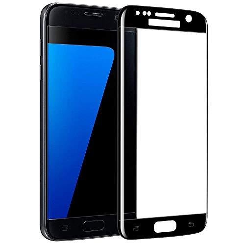 Galaxy S7 edge ガラス フィルム 全面 docomo SC-02H au SCV33 ギャラクシー S 7 ギャラクシー 液晶 画面 エッジ 保護 湾曲 滑らか 3D S-PEN 対応 9H クリア フルサイズ 黒