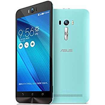 エイスース SIMフリースマートフォン ZenFone Selfieアクアブルー ZD551KL-BL16