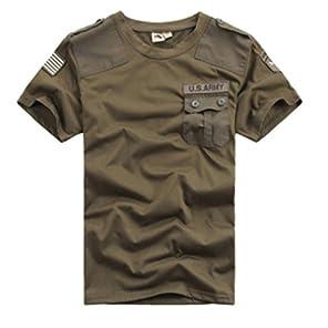 Catsobat U.S.ARMY 陸軍 サバイバルファッション半袖Tシャツ (XLサイズ(175-180), タイプ1)