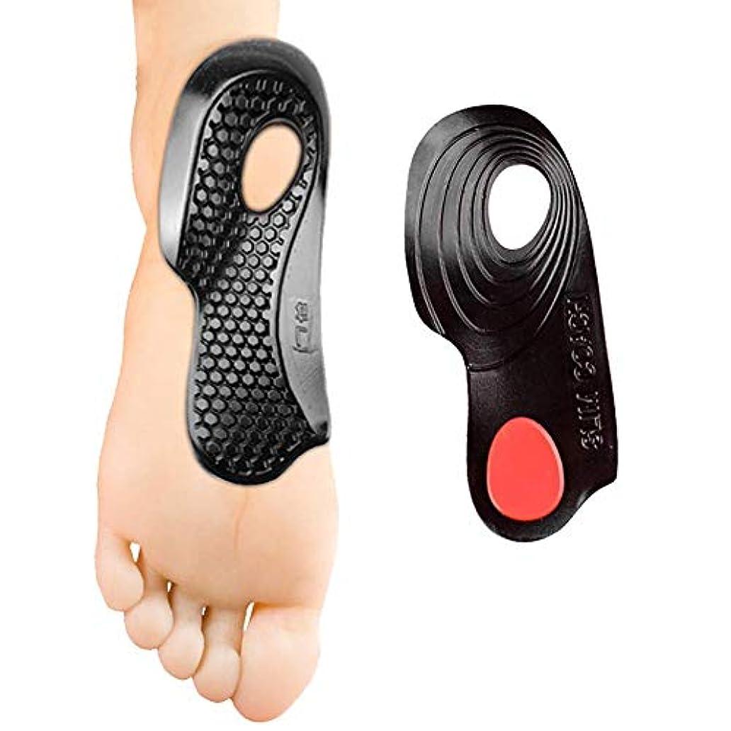 震えステップ自伝O/x 脚整形外科整形外科インソールのための落下アーチ型フラット足ボウル、 2 ペア (S)