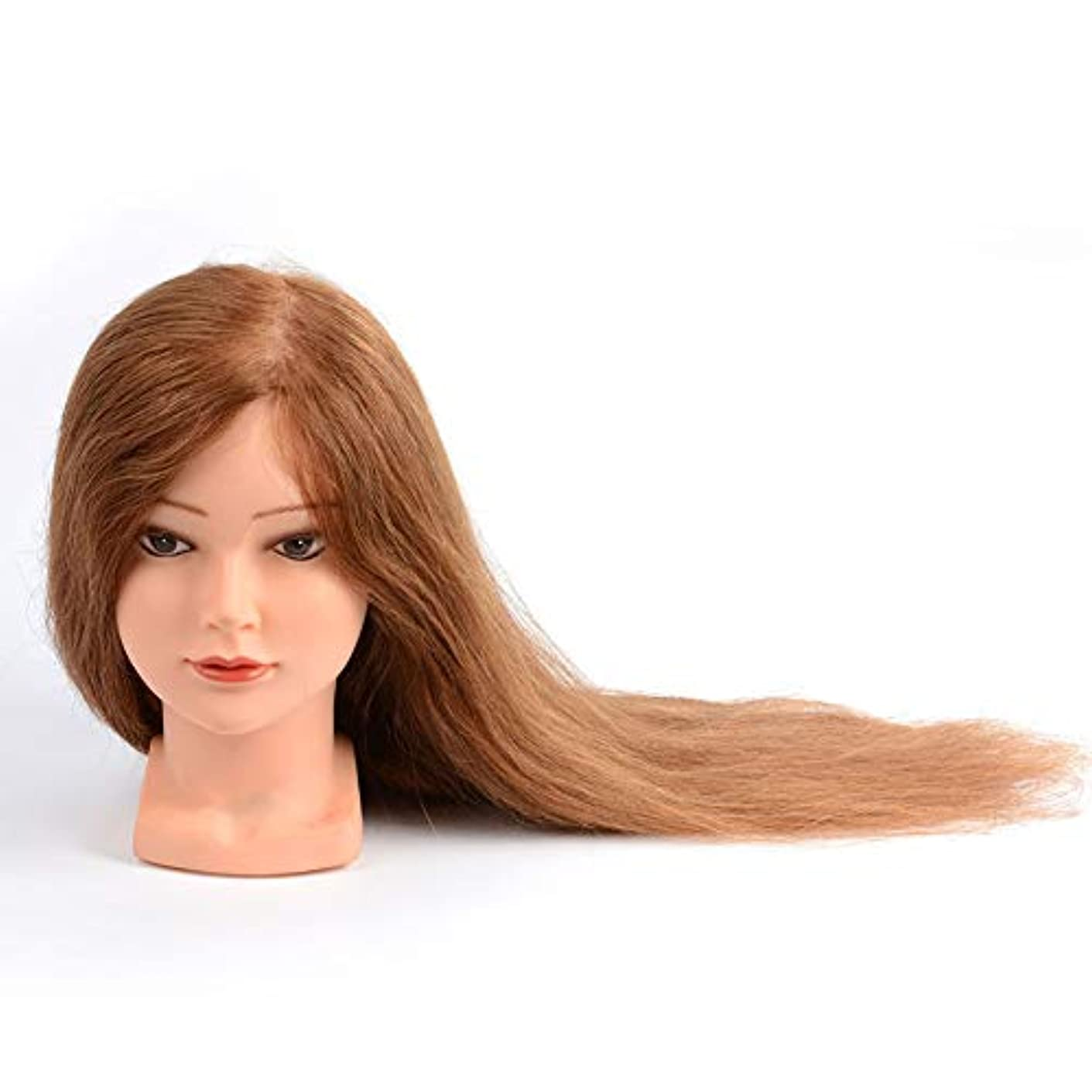 階下みすぼらしい感嘆符実在の人の髪のダミーヘッド理髪店学習パーマ髪染めウィッグモデルヘッド花嫁メイクスタイル教育ヘッド