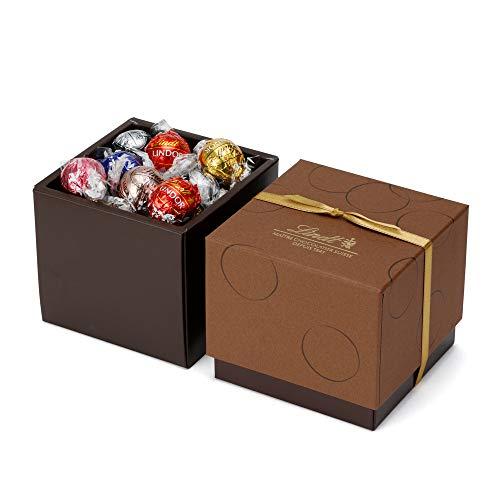 リンツ (Lindt) チョコレート リンドール スクエアギフトボックス 7種27個入り ショッピングバッグS付