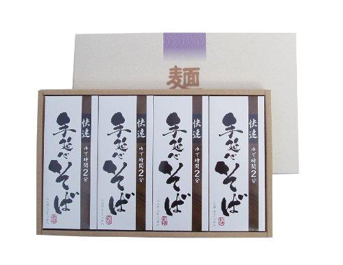 「快速」 手延べ そば つゆ、のり入り 24食セット 奈良 三輪山麓にて製造