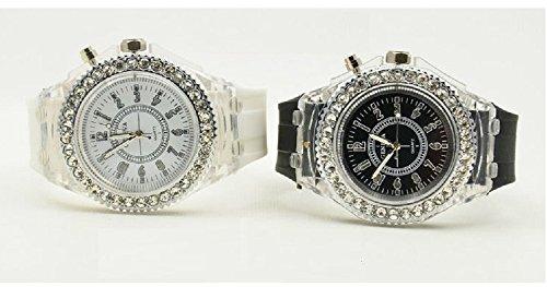 Geneva レインボーLED腕時計 ホワイト