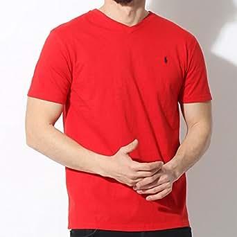 (ポロ ラルフローレン)POLO RALPH LAUREN Vネック Tシャツ 323 515558 メンズ レディース 05.レッド M [並行輸入品]