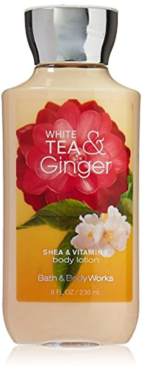 金属キャンベラトロピカルBath & Body Works Shea & Vitamin E Lotion White Tea & Ginger by Bath & Body Works [並行輸入品]