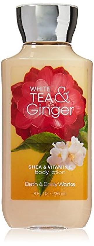 賛美歌振り返る寛解Bath & Body Works Shea & Vitamin E Lotion White Tea & Ginger by Bath & Body Works [並行輸入品]