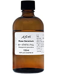 ASH ローズゼラニウム エッセンシャルオイル 100ml AEAJ表示基準適合認定精油