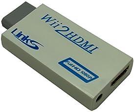 LinkS Wii→HDMI720P/1080PのHD出力アップスケーリング 変換、すべてのモードをサーポドする、HDMIアップスケール→720Pまたは1080p出力[ビデオゲーム]