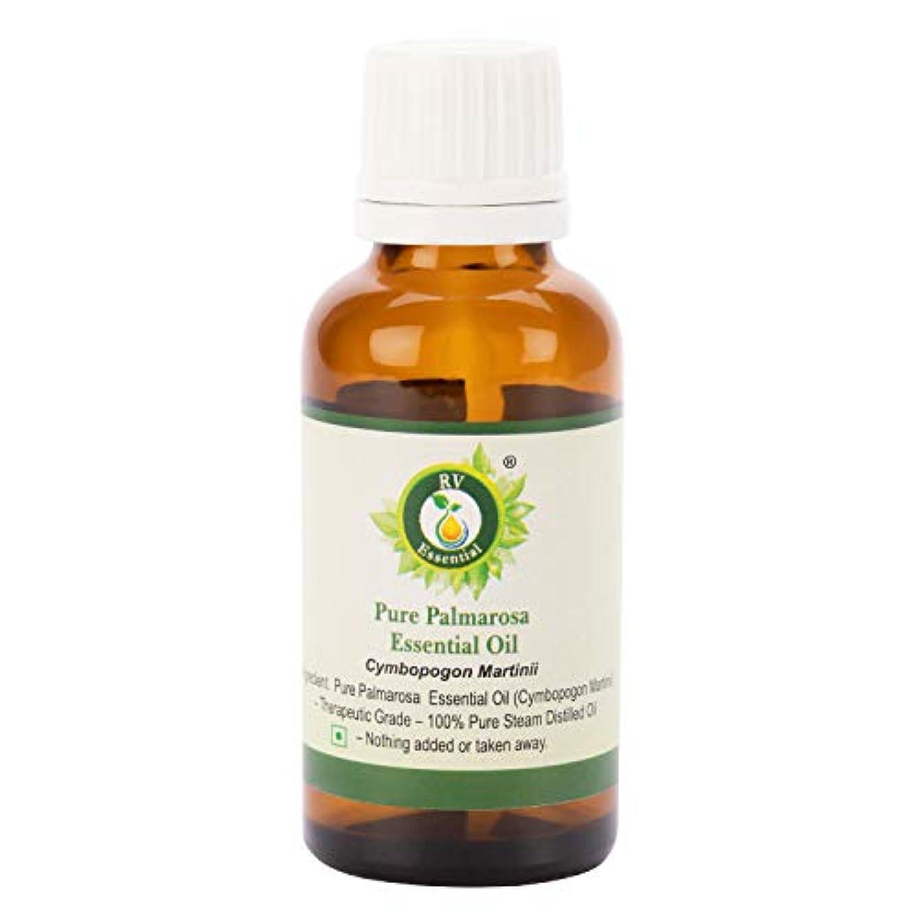 偶然のホスト害ピュアパルマローザエッセンシャルオイル5ml (0.169oz)- Cymbopogon Martinii (100%純粋&天然スチームDistilled) Pure Palmarosa Essential Oil