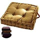 wongbey WAQIA Square Thick Floor Seating Cushions,Solid Thick Tufted Cushion Meditation Pillow Square Floor Pillow Seating wi