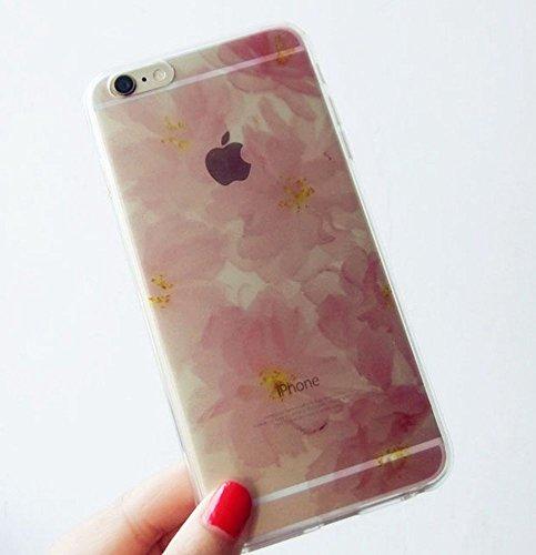 POJ iPhone5 / 5s / SE TPU ソフトケース クリアケース クリスタル フラワー...