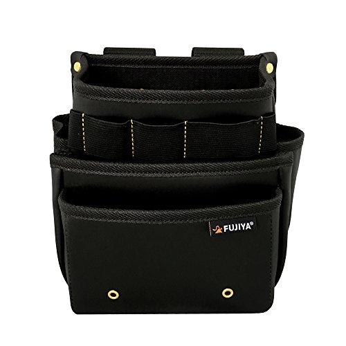 腰袋スタンダード3段 黒金 PS-23BG 水 汚れ こすれに強い素材