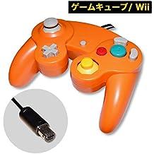 ゲームキューブ コントローラー Wii 振動対応 互換品 1年保証 (オレンジ)