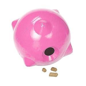 (スタッブズ) Stubbs 犬・馬用 Horsey ボール えさ・おやつ入れ おもちゃ ペット用品 (ワンサイズ) (ピンク)