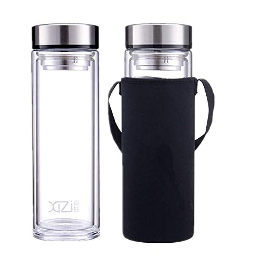 ためらうシーンインレイ水筒 1リットル 耐熱 ホットグラス お茶 おしゃれ ポット携帯 ティーボトル 茶こし 大容量