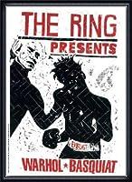 ポスター トーマス キルパー THE RING ウォーホル&バスキア 2000 額装品 ウッドハイグレードフレーム(ネイビー)