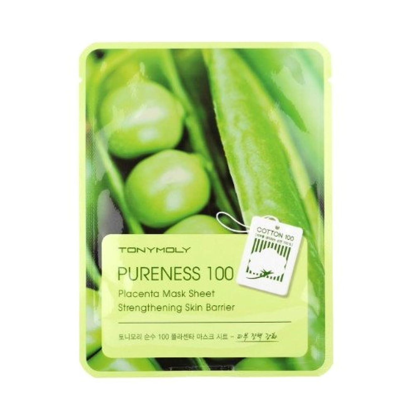 撤退上向き超越する(6 Pack) TONYMOLY Pureness 100 Placenta Mask Sheet Strengthening Skin Barrier (並行輸入品)