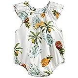 junliuTT 赤ちゃん 女の子 パイナップル プリント 夏 ロンパース 赤ちゃん キッド 女の子 コットン カジュアル 服 (2-3歳, BRS8034)